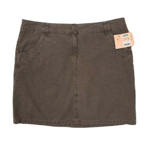 NWT CASLON Brown Skirt with Pockets Size 16